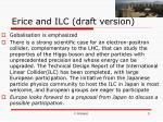 erice and ilc draft version