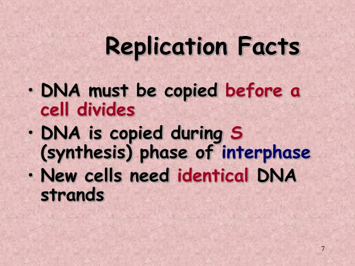 Replication Facts