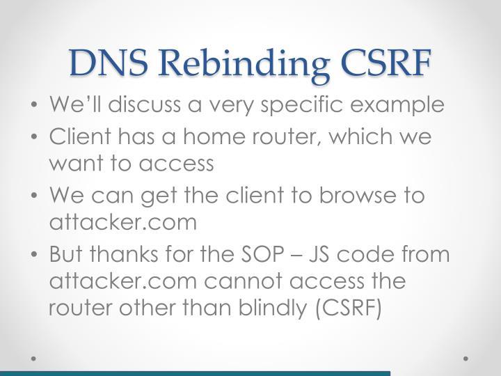 DNS Rebinding CSRF