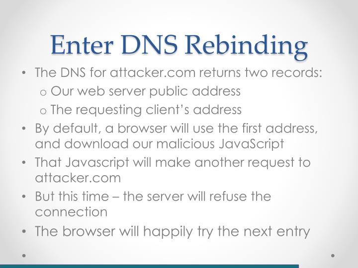Enter DNS Rebinding