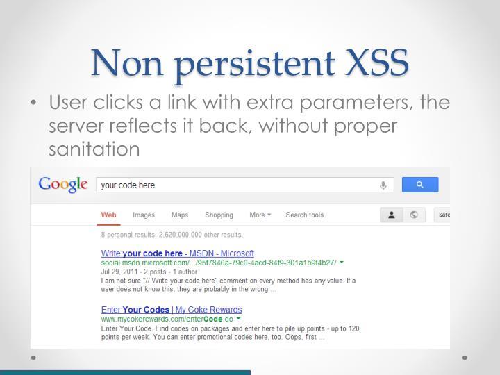 Non persistent XSS