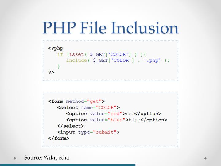 PHP File Inclusion