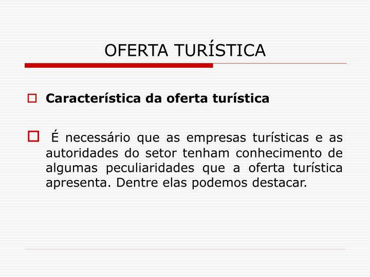 OFERTA TURÍSTICA