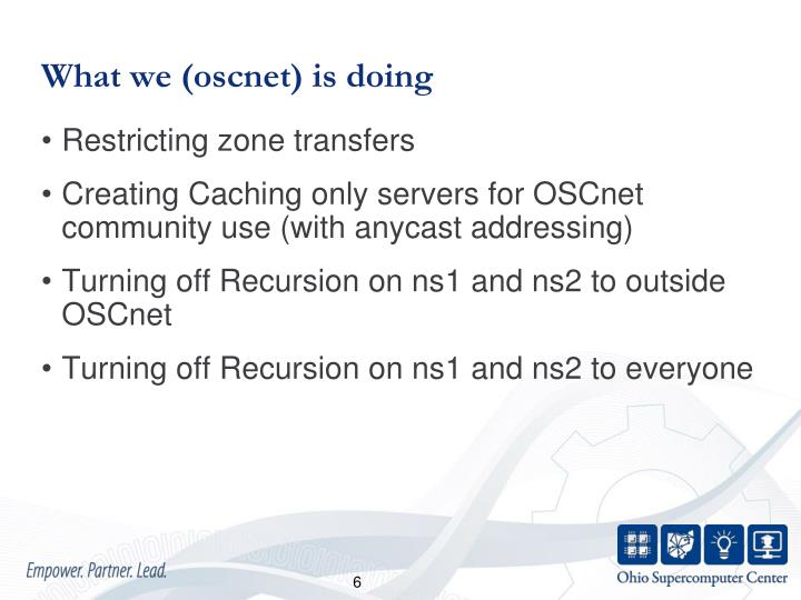 What we (oscnet) is doing