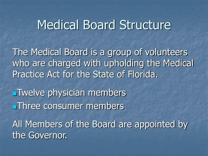 Medical Board Structure