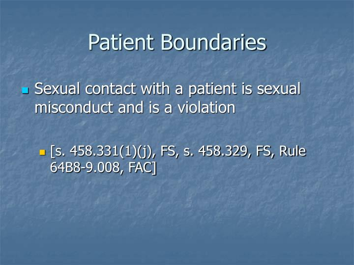 Patient Boundaries