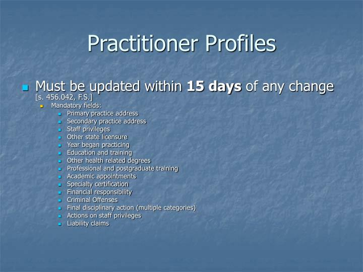 Practitioner Profiles