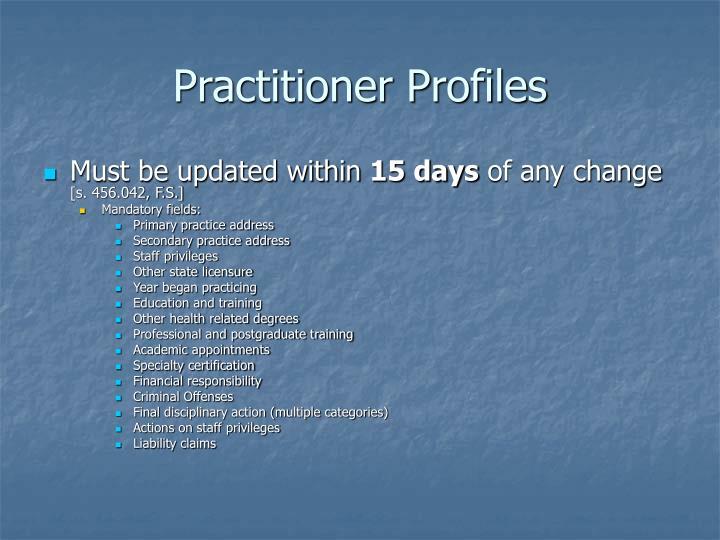Practitioner Profiles