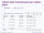 calcolo delle concentrazioni per reattori batch