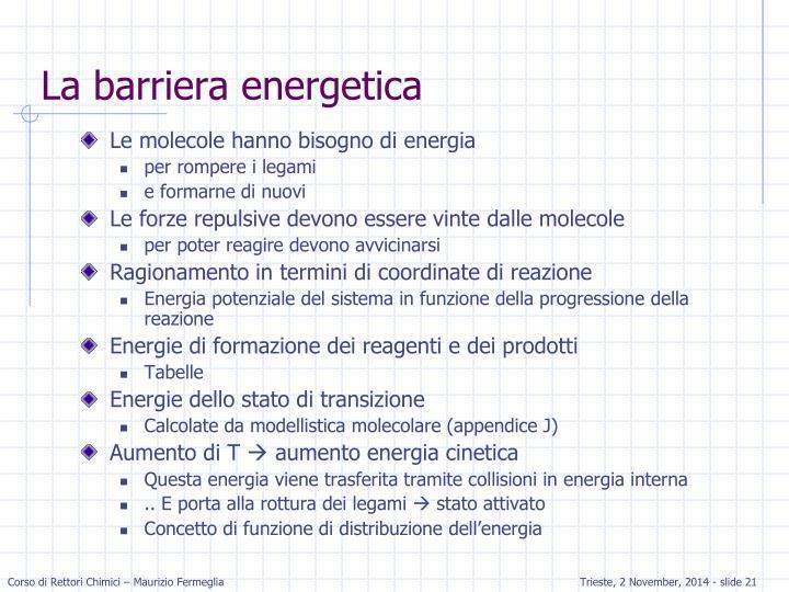 La barriera energetica