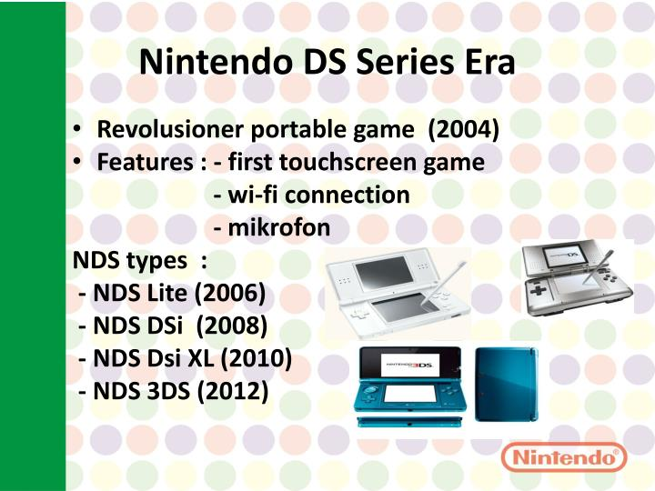 Nintendo ds s eries e ra
