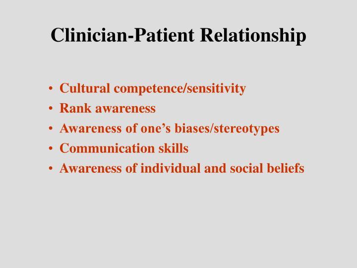 Clinician-Patient Relationship