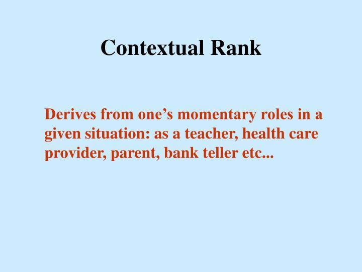 Contextual Rank