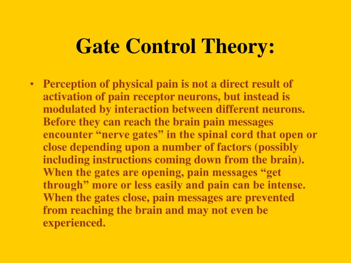 Gate Control Theory: