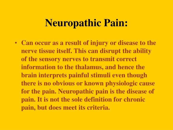 Neuropathic Pain: