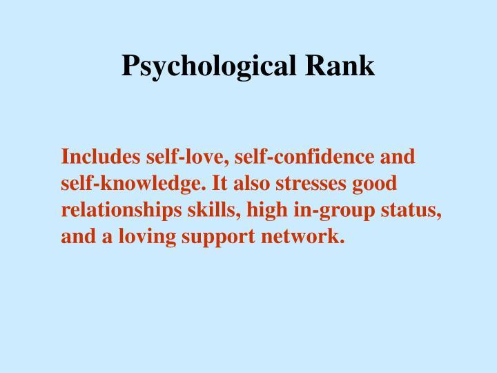 Psychological Rank