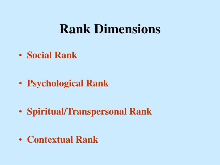Rank Dimensions