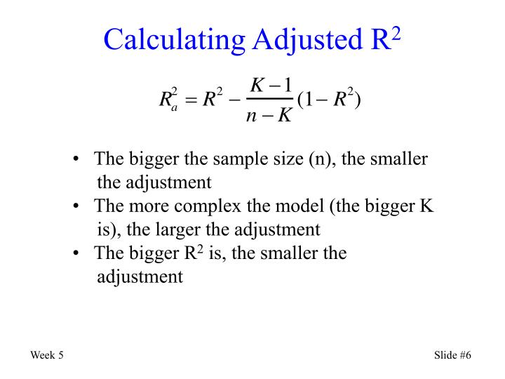 Calculating Adjusted R