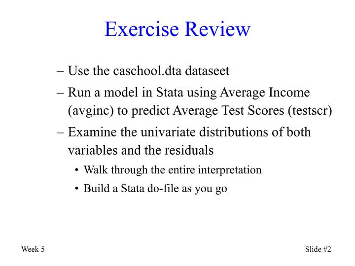 Exercise Review