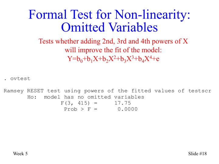 Formal Test for Non-linearity: