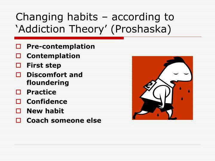 Changing habits – according to 'Addiction Theory' (Proshaska)
