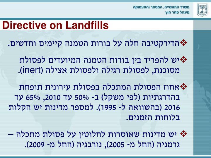 Directive on Landfills