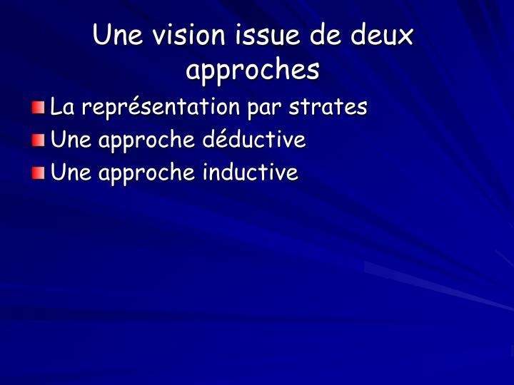 Une vision issue de deux approches