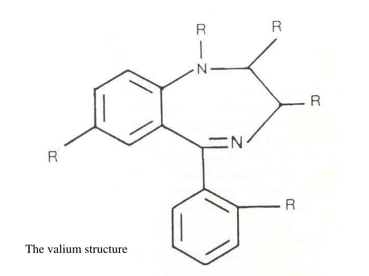 The valium structure