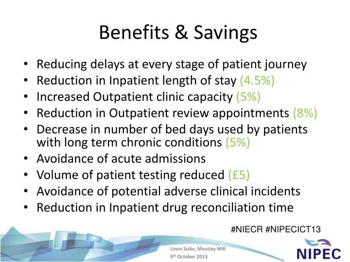 Benefits & Savings