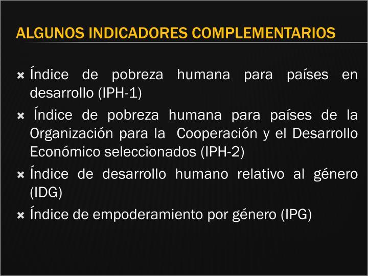 Índice de pobreza humana para países en desarrollo (IPH-1)
