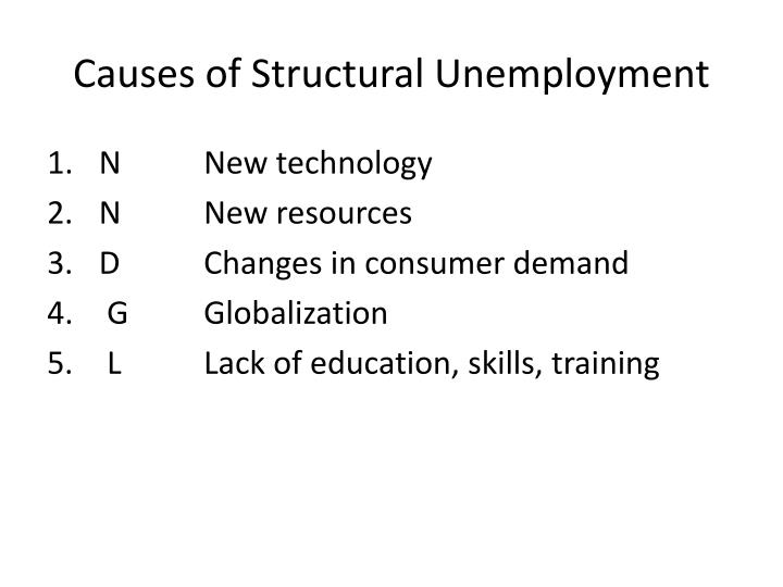 Causes of Structural Unemployment