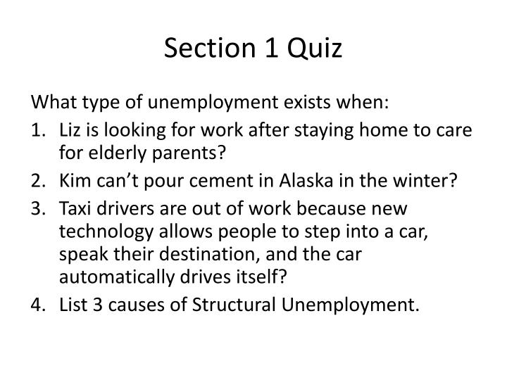 Section 1 Quiz