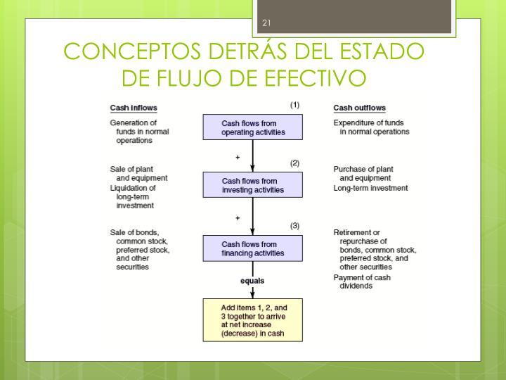 CONCEPTOS DETRÁS DEL ESTADO DE FLUJO DE EFECTIVO