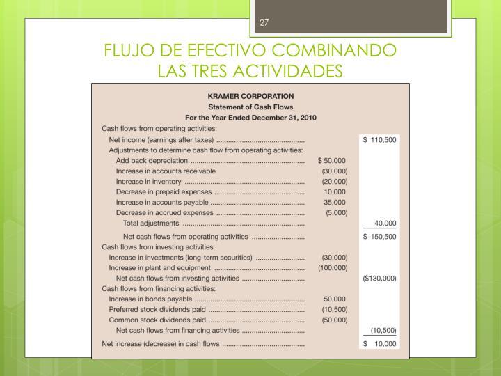 FLUJO DE EFECTIVO COMBINANDO