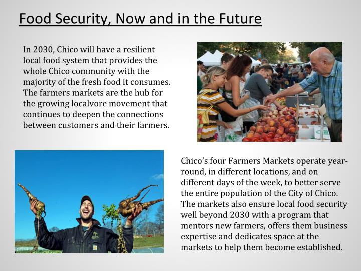 Food Security, Now and in the Future