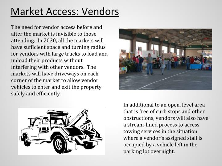 Market Access: Vendors
