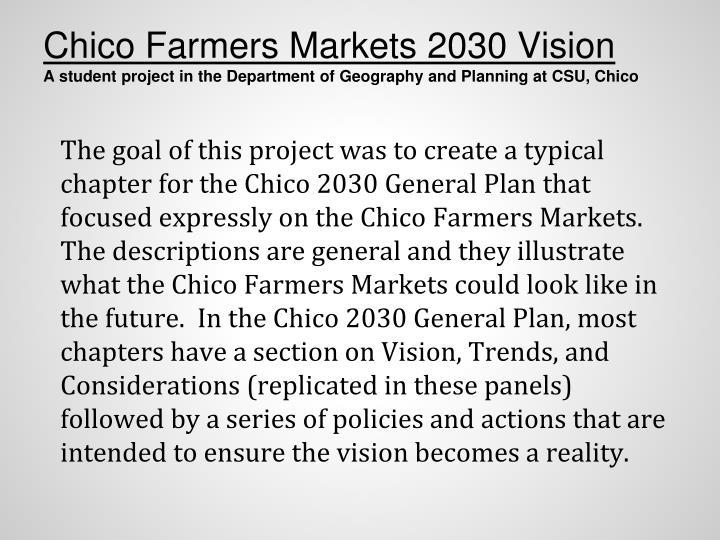 Chico Farmers Markets 2030 Vision
