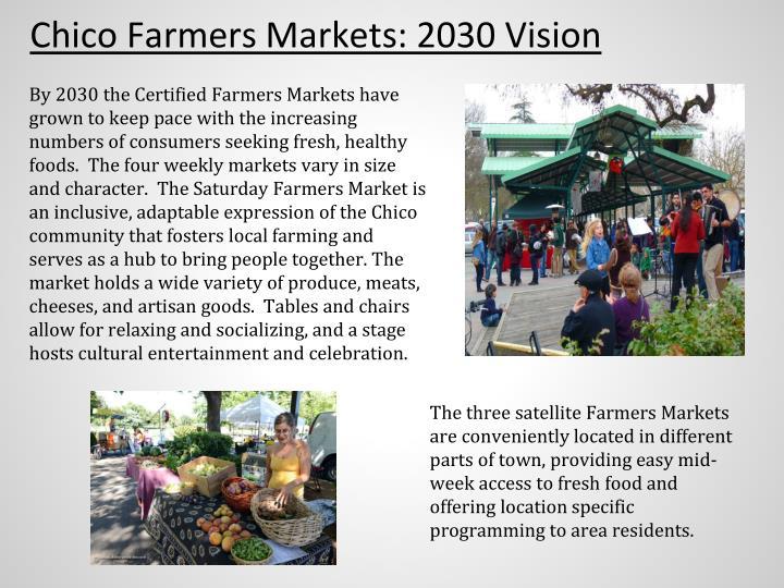 Chico Farmers Markets: 2030 Vision