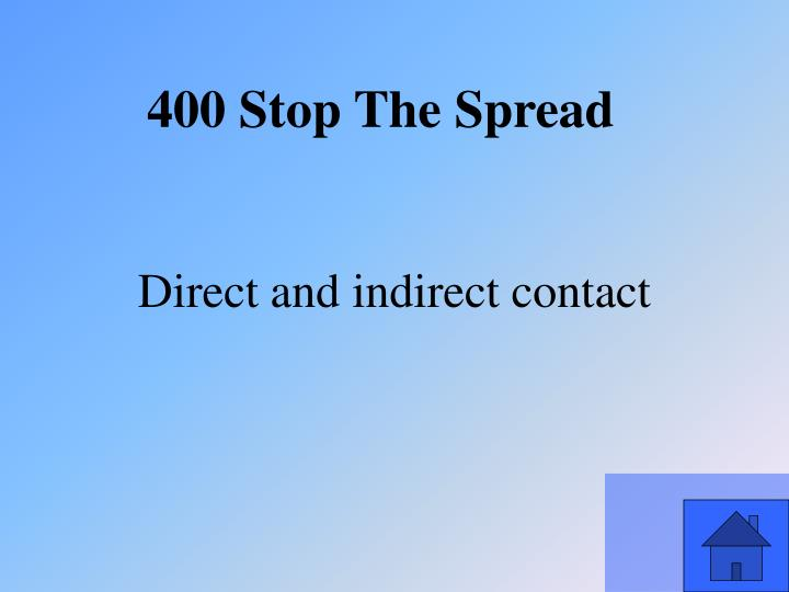 Direct and indirect contact
