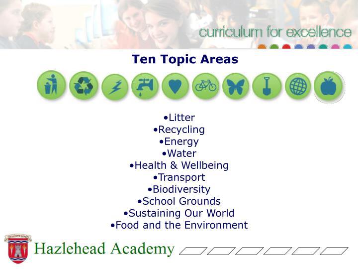 Ten Topic Areas