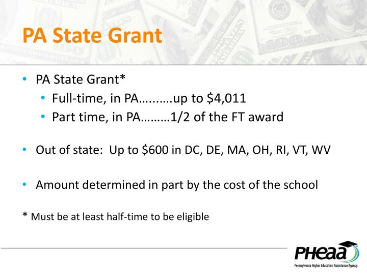 PA State Grant