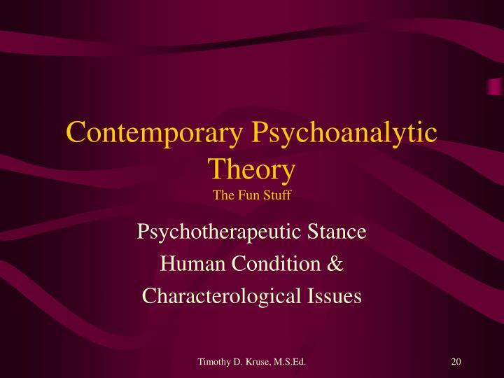 Contemporary Psychoanalytic Theory