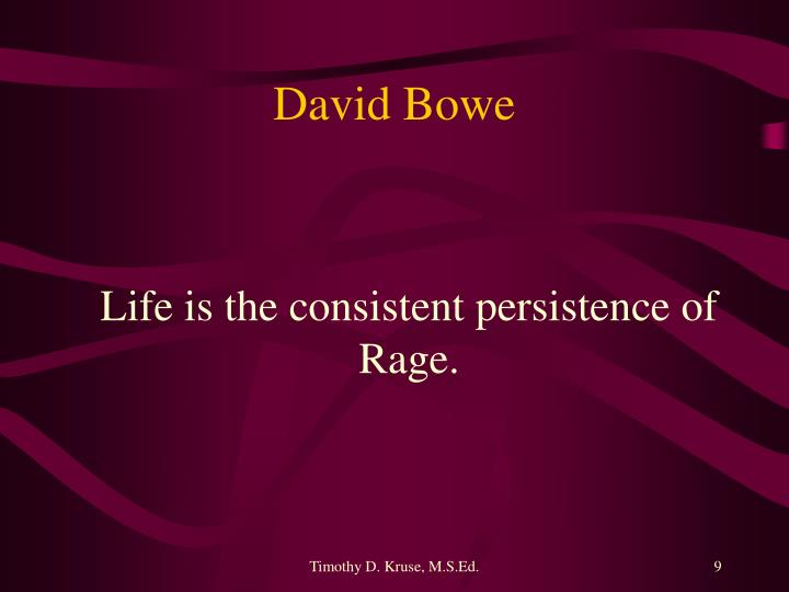 David Bowe