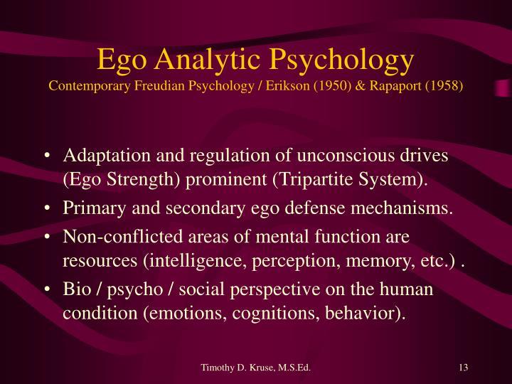 Ego Analytic Psychology