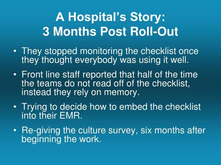 A Hospital's Story: