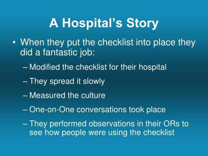 A Hospital's Story