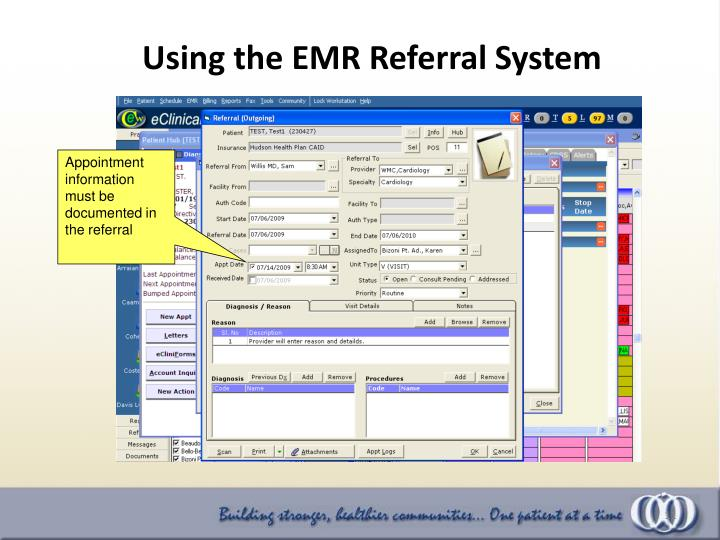 Using the EMR Referral System