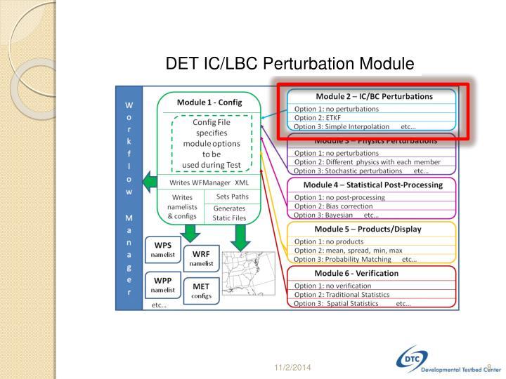 DET IC/LBC Perturbation Module