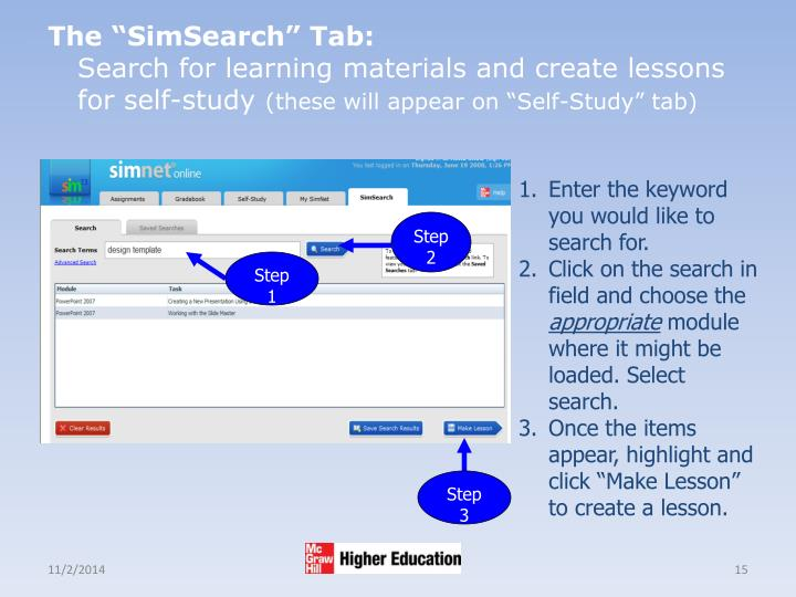 "The ""SimSearch"" Tab:"