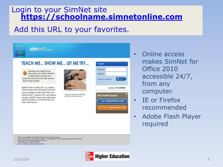 Login to your SimNet site